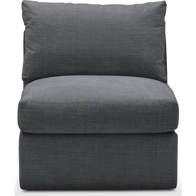 Living Room Furniture - Collin Armless Chair- Comfort in Milford II Charcoal