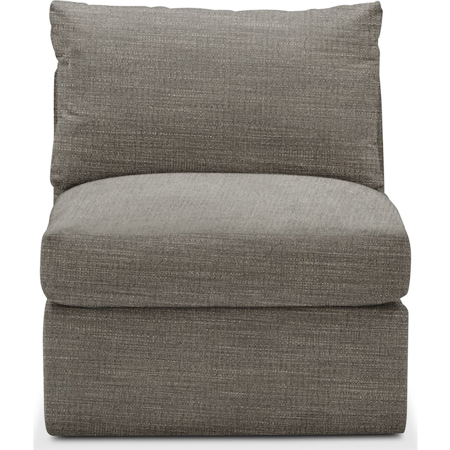 Living Room Furniture - Collin Armless Chair- Comfort in Victory Smoke