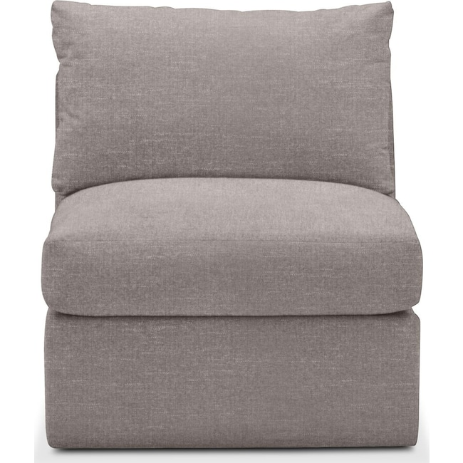 Living Room Furniture - Collin Armless Chair- Comfort in Curious Silver Rine