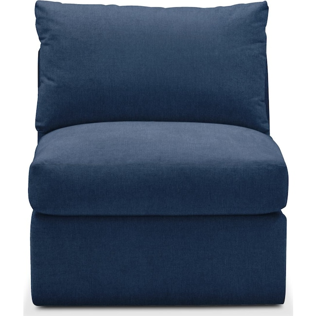 Living Room Furniture - Collin Armless Chair- Comfort in Hugo Indigo