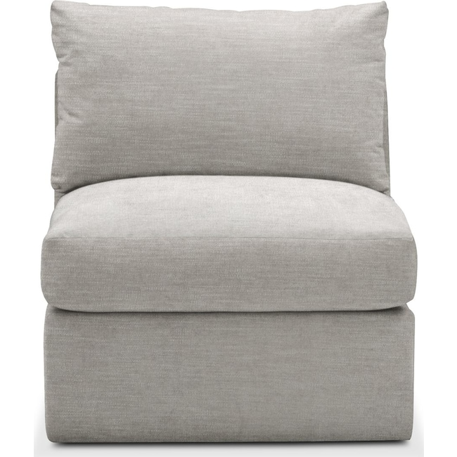 Living Room Furniture - Collin Armless Chair- Comfort in Dudley Gray