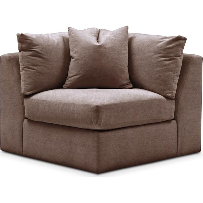 Living Room Furniture - Collin Corner Chair- Comfort in Oakley III Java