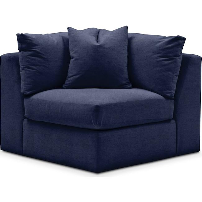 Living Room Furniture - Collin Corner Chair- Comfort in Oakley III Ink