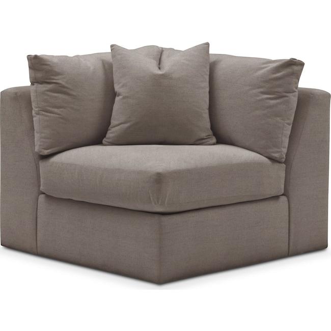 Living Room Furniture - Collin Corner Chair- Comfort in Oakley III Granite