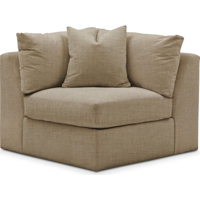 Living Room Furniture - Collin Corner Chair- Comfort in Milford II Toast