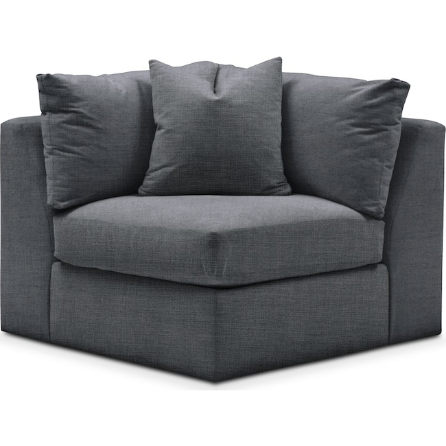 Living Room Furniture - Collin Corner Chair- Comfort in Milford II Charcoal