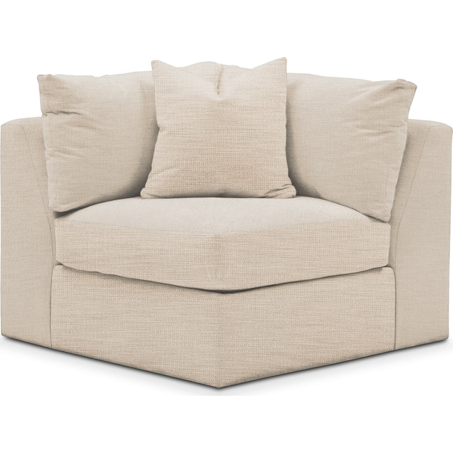 Living Room Furniture - Collin Corner Chair- Comfort in Victory Ivory