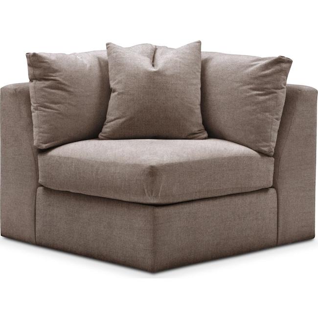 Living Room Furniture - Collin Corner Chair- Comfort in Hugo Mocha