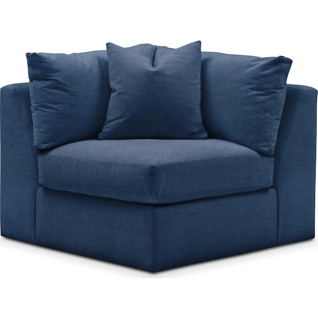 Living Room Furniture - Collin Corner Chair- Comfort in Hugo Indigo