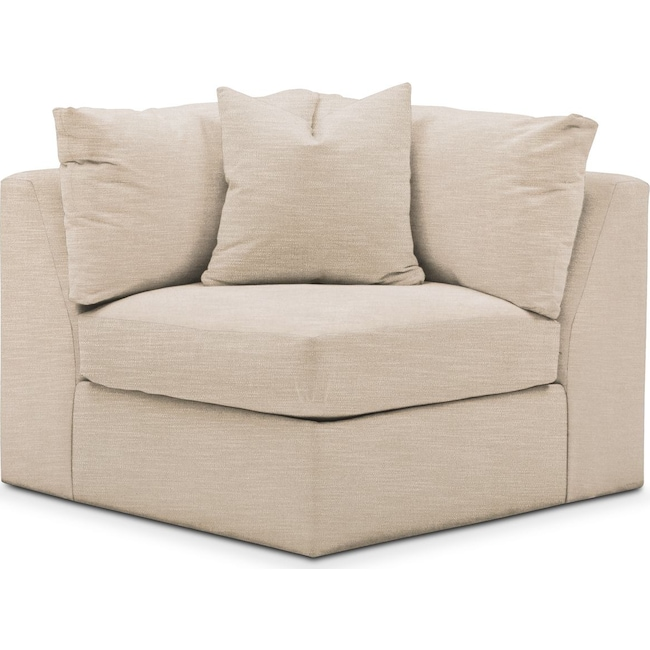 Living Room Furniture - Collin Corner Chair- Comfort in Dudley Buff