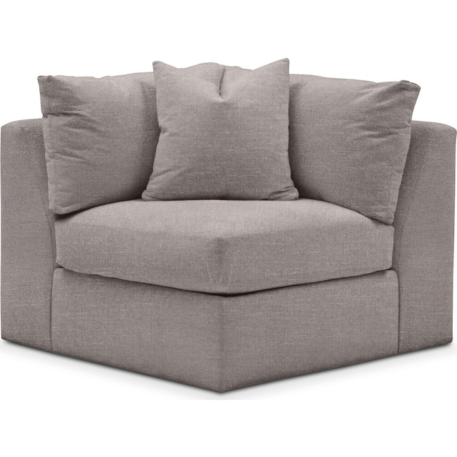 Living Room Furniture - Collin Corner Chair- Cumulus in Curious Silver Rine