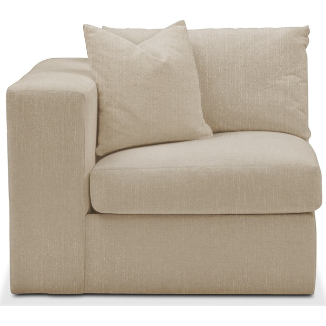 Living Room Furniture - Collin Left Arm Facing Chair- Comfort in Depalma Taupe