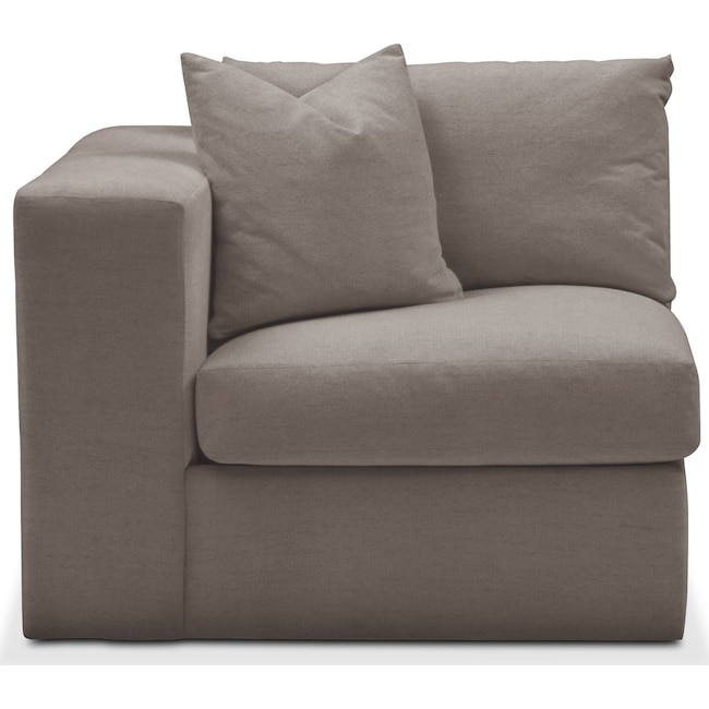 Living Room Furniture - Collin Left Arm Facing Chair- Comfort in Oakley III Granite