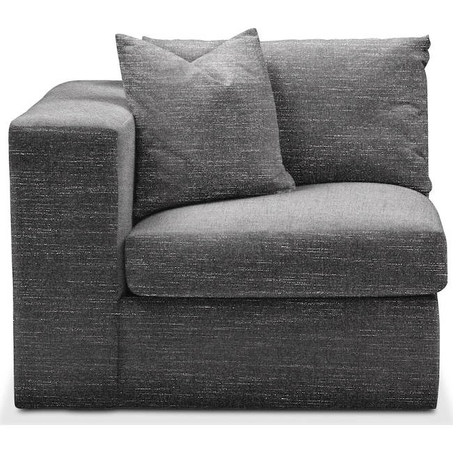 Living Room Furniture - Collin Left Arm Facing Chair- Comfort in Curious Charcoal