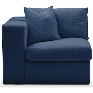 Collin Left Arm Facing Chair- Comfort in Hugo Indigo