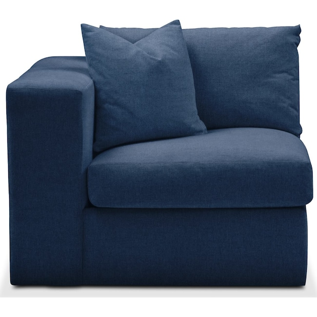 Living Room Furniture - Collin Left Arm Facing Chair- Comfort in Hugo Indigo