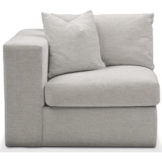 Collin Left Arm Facing Chair- Comfort in Dudley Gray
