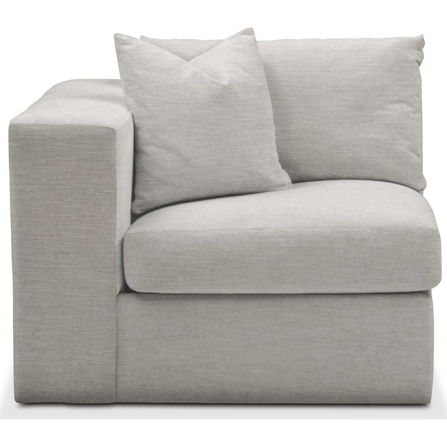 Living Room Furniture - Collin Left Arm Facing Chair- Comfort in Dudley Gray