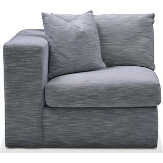 Collin Left Arm Facing Chair- Comfort in Dudley Indigo