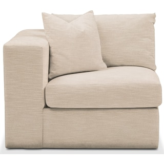 Collin Left Arm Facing Chair- Comfort in Dudley Buff