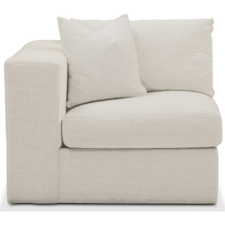 Collin Left Arm Facing Chair- Comfort in Anders Ivory