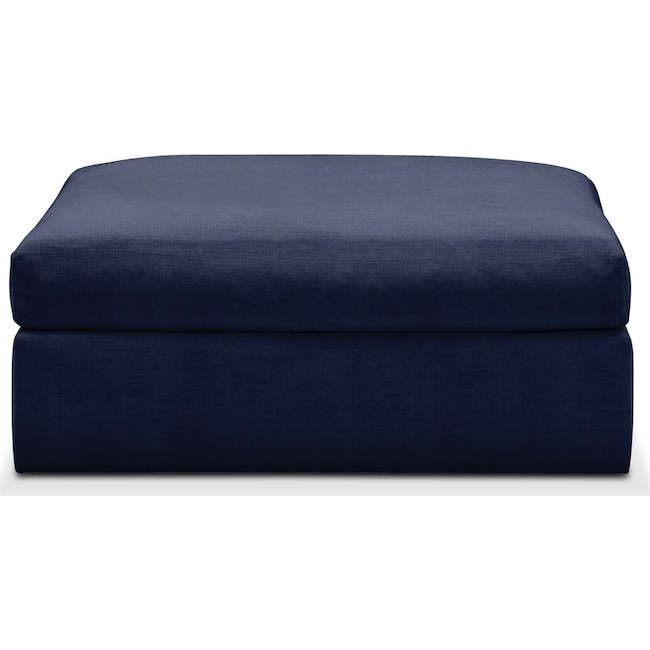 Living Room Furniture - Collin Ottoman- Comfort in Oakley III Ink