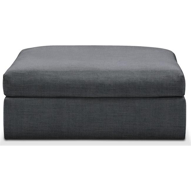 Living Room Furniture - Collin Ottoman- Comfort in Milford II Charcoal