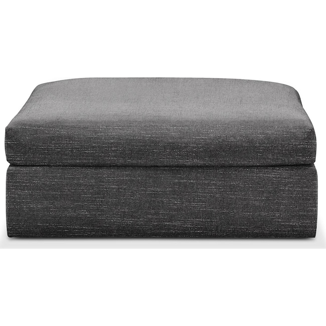 Living Room Furniture - Collin Ottoman- Comfort in Curious Charcoal