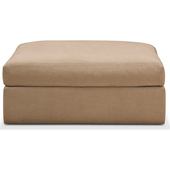 Accent and Occasional Furniture - Collin Ottoman- Comfort in Hugo Camel