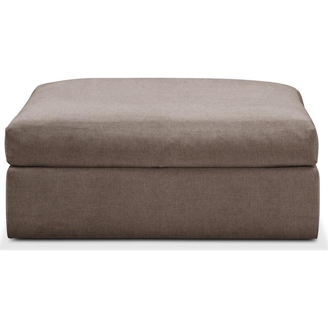 Living Room Furniture - Collin Ottoman- Comfort in Hugo Mocha