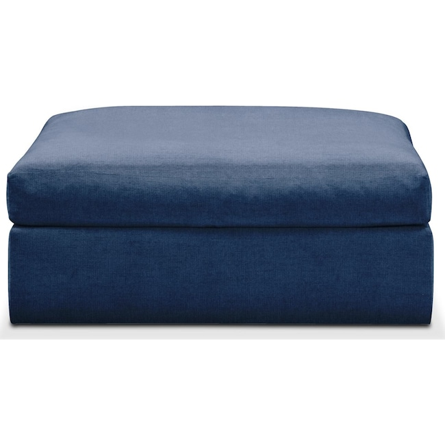 Accent and Occasional Furniture - Collin Ottoman- Comfort in Hugo Indigo