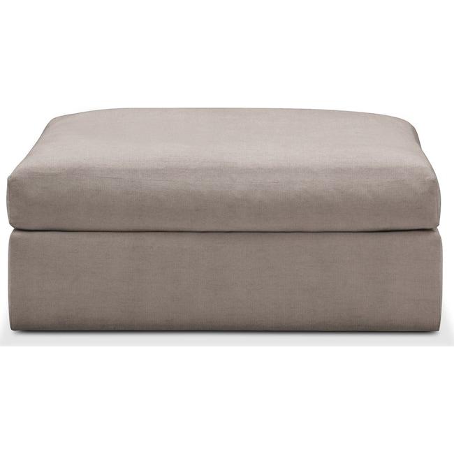 Living Room Furniture - Collin Ottoman- Comfort in Abington TW Fog
