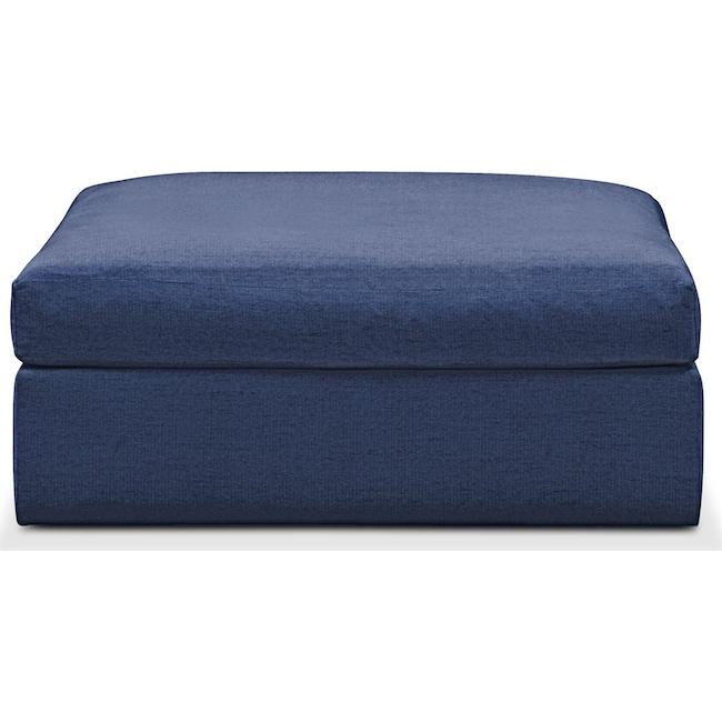 Living Room Furniture - Collin Ottoman- Comfort in Abington TW Indigo