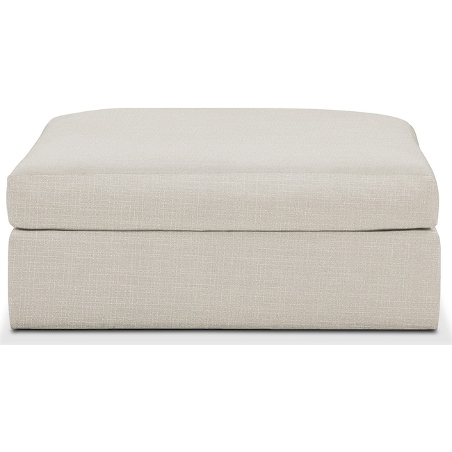 Living Room Furniture - Collin Ottoman- Comfort in Anders Ivory