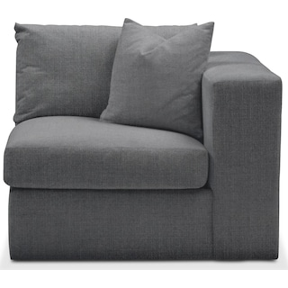 Collin Right Arm Facing Chair- Comfort in Depalma Charcoal