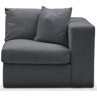 Collin Right Arm Facing Chair- Comfort in Milford II Charcoal