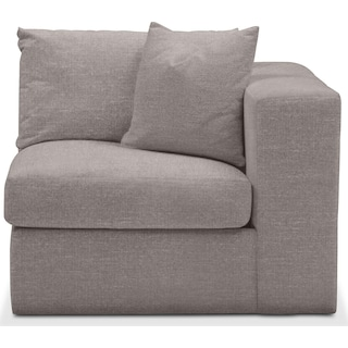 Collin Right Arm Facing Chair- Comfort in Curious Silver Rine