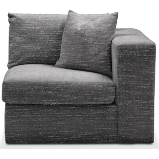 Collin Right Arm Facing Chair- Comfort in Curious Charcoal