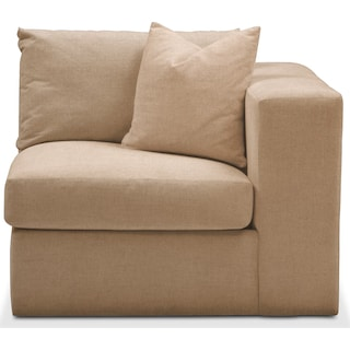 Collin Right Arm Facing Chair- Comfort in Hugo Camel