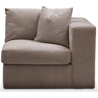 Collin Right Arm Facing Chair- Comfort in Hugo Mocha
