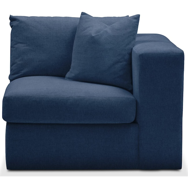 Living Room Furniture - Collin Right Arm Facing Chair- Comfort in Hugo Indigo