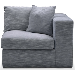Collin Right Arm Facing Chair- Comfort in Dudley Indigo