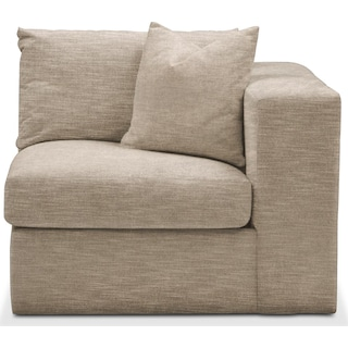 Collin Right Arm Facing Chair- Comfort in Dudley Burlap