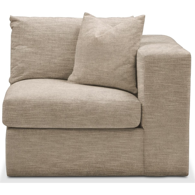 Living Room Furniture - Collin Right Arm Facing Chair- Comfort in Dudley Burlap