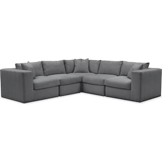 Collin 5 Pc. Sectional - Comfort in Depalma Charcoal