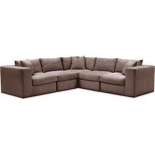 Collin 5 Pc. Sectional - Comfort in Oakley III Java
