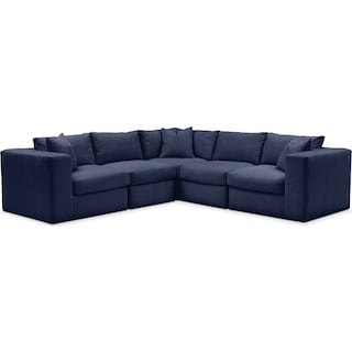 Collin 5 Pc. Sectional - Comfort in Oakley III Ink