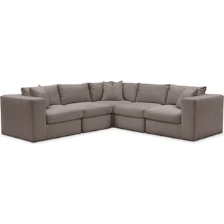 Collin 5 Pc. Sectional - Comfort in Oakley III Granite
