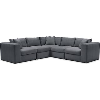 Collin 5 Pc. Sectional - Comfort in Milford II Charcoal