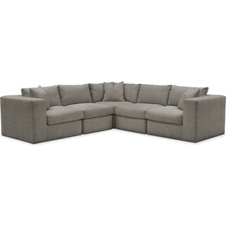 Collin 5 Pc. Sectional - Comfort in Victory Smoke